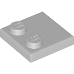 LEGO 6212077 PLATE 2X2 - MEDIUM STONE GREY