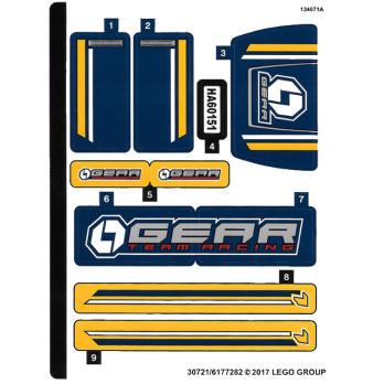 Stickers / Autocollant Lego City  60151