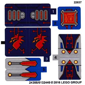 Stickers / Autocollant Lego Nexo Knight - 70319
