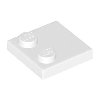 LEGO 33909 PLATE 2X2 - BLANC