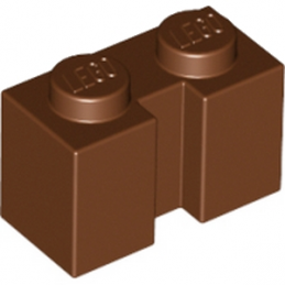 LEGO 6103004 BRIQUE 1X2 W - REDDISH BROWN