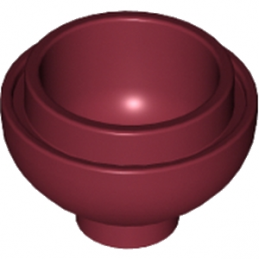 LEGO 6058218 DOME 2X2, INVERTED W. ONE STUD - NEW DARK RED