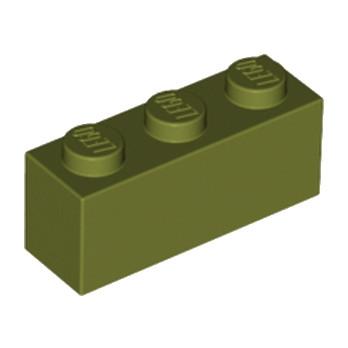 LEGO 6058220 BRIQUE 1X3 - OLIVE GREEN