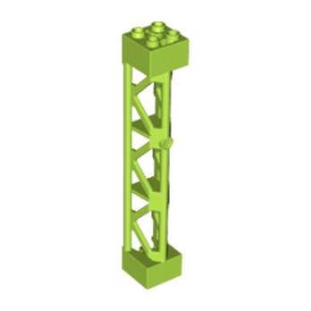 LEGO 6117028 ELEMENT DE SOUTIEN 2x2X10 W/CROSS  - BRIGHT YELLOWISH GREEN
