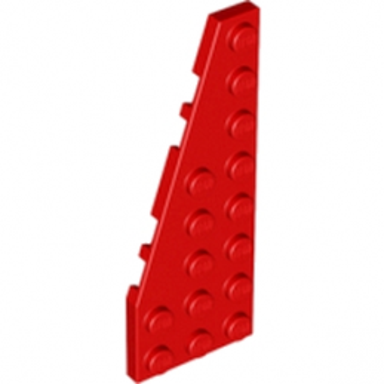 LEGO 4610488 PLATE 3X8 ANGLE GAUCHE - ROUGE