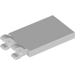 LEGO 6174935 PLATE 2X3 W. HOLDER - MEDIUM STONE GREY