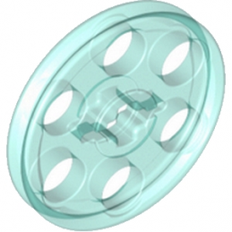 LEGO 6096296 WEDGE-BELT WHEEL Ø24 -  BLEU TRANSPARENT