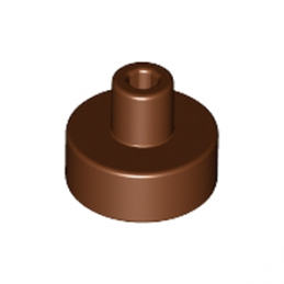 LEGO 6186673 ROND 1X1 AVEC PIN - REDDISH BROWN