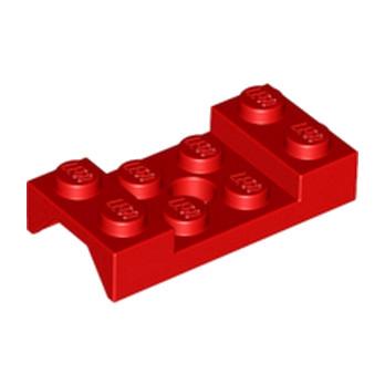 LEGO 4600176 MUDGUARD 2X4 w. HOLE Ø4.9 - ROUGE