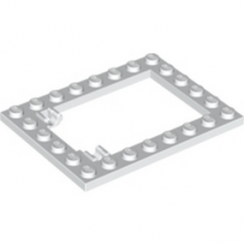 LEGO 6054973 CADRE TRAPPE 6X8 - BLANC