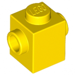 LEGO 6137920 BRIQUE 1X1 W. 2 KNOBS - JAUNE