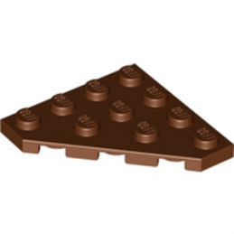 LEGO 4224732 PLATE D'ANGLE 45 DEG. 4X4 - REDDISH BROWN