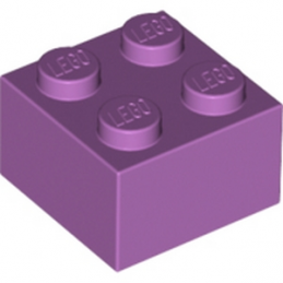 LEGO 6070321 BRIQUE  2X2 - MEDIUM LAVENDER