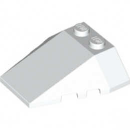 LEGO 4264026 ROOF TILE 4X2/18° W/COR. - BLANC