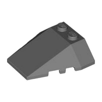 LEGO 4225873  ROOF TILE 4X2/18° W/COR. - DARK STONE GREY