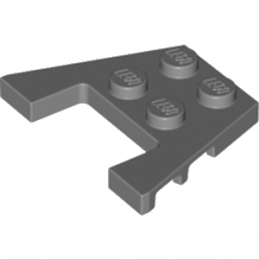 LEGO 4240014 PLATE ANGLE COUPE 3X4 - DARK STONE GREY
