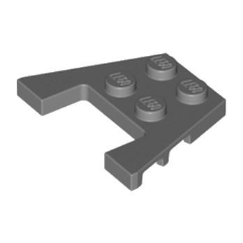 LEGO 4240014 PLATE ANGLE COUPE 3X4 - DARK STONE GREY