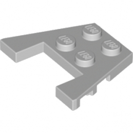 LEGO 4240013 PLATE ANGLE COUPE 3X4 - MEDIUM STONE GREY