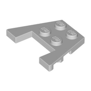 LEGO 4240013 PLATE ANGLE COUPE 3X4 - MEDIUM STONE GREY lego-6170521-plate-angle-coupe-3x4-medium-stone-grey ici :