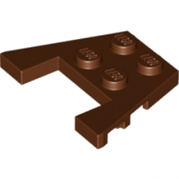 LEGO 4566689 PLATE ANGLE COUPE 3X4 - REDDISH BROWN