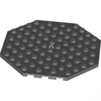 LEGO 4583688 PLATE OCTAGONAL 10X10 - DARK STONE GREY