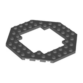 LEGO 4296512 PLATE OCTAGONAL 10X10 - DARK STONE GREY lego-6172931-plate-octagonal-10x10-dark-stone-grey ici :