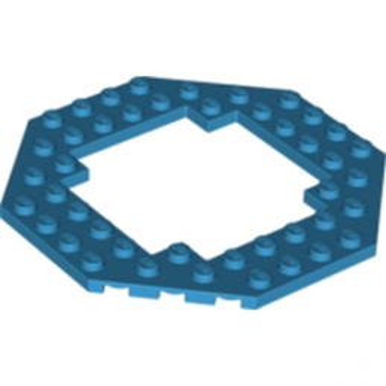LEGO 6038284 PLATE OCTAGONAL 10X10 - DARK AZUR