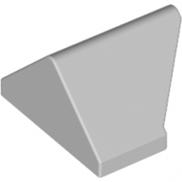 LEGO 4653091 TUILE 1X2/45° - MEDIUM STONE GREY