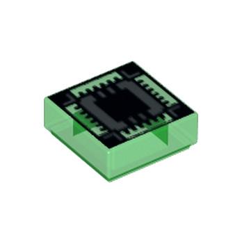 LEGO 6083816 IMPRIME 1X1 - VERT TRANSPARENT