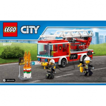 Notice / Instruction Lego City - Camion de Pompier 60107