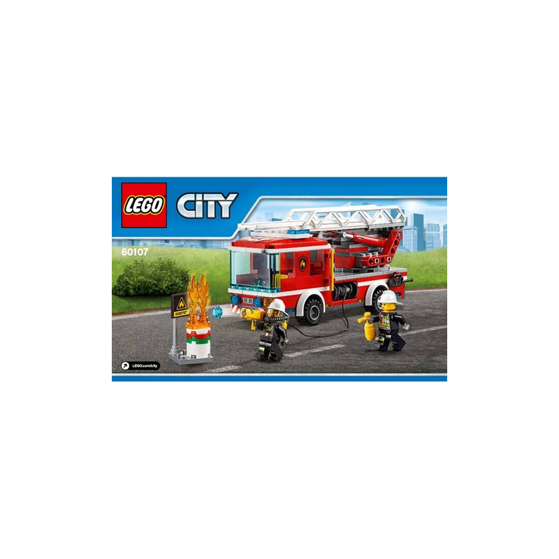 Notice instruction lego city camion de pompier 60107 - Lego city police camion ...