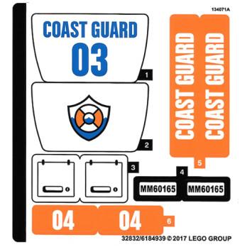 Stickers / Autocollant Lego City  60165