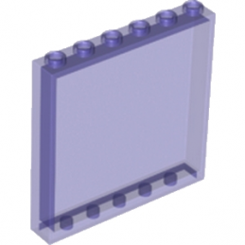 LEGO 6096709 MUR / CLOISON 1X6X5 - VIOLET TRANSPARENT