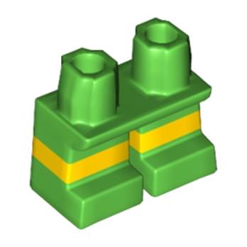 LEGO 6193844 PETITE JAMBE BICOLORE - VERT / JAUNE