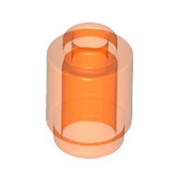 LEGO 4153989 BRIQUE RONDE 1X1 - ORANGE FLUO TRANSPARENT