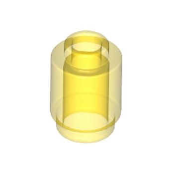 LEGO 306244  BRIQUE RONDE 1X1 - JAUNE TRANSPARENT