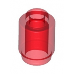 LEGO 306241 BRIQUE RONDE 1X1 - ROUGE TRANSPARENT