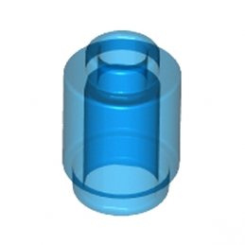 LEGO 3006843 BRIQUE RONDE 1X1 - BLEU FONCE TRANSPARENT