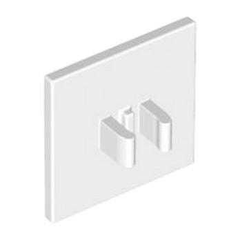 LEGO 4116817 PANNEAU A CLIPS CARRE - BLANC