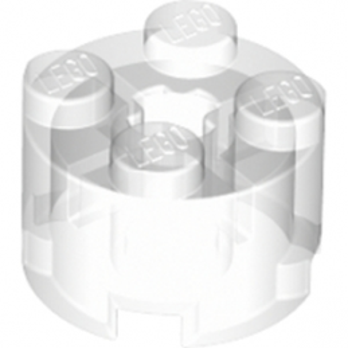 LEGO 4143346  BRIQUE RONDE Ø16 W. CROSS - TRANSPARENT