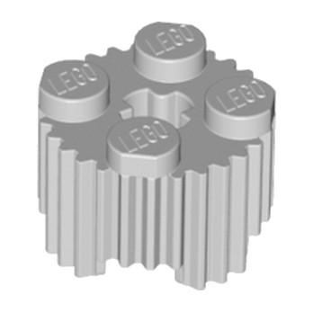 LEGO 4610816 BRIQUE RONDE RAINURE Ø15.83 W. CROSS - MEDIUM STONE GREY