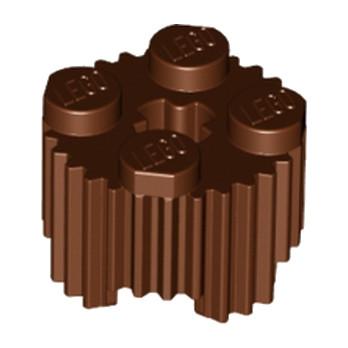 LEGO 6036503 BRIQUE RONDE RAINURE Ø15.83 W. CROSS - REDDISH BROWN lego-6036503-brique-ronde-rainure-o1583-w-cross-reddish-brown ici :