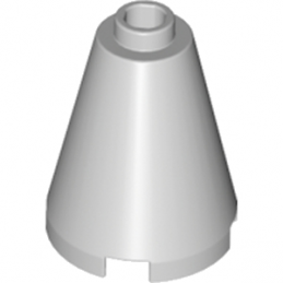 LEGO 6057616 CONE 2X2X2 - MEDIUM STONE GREY
