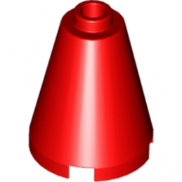 LEGO 394221 CONE 2X2X2 - ROUGE