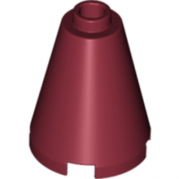 LEGO 4162208 CONE 2X2X2 - NEW DARK RED
