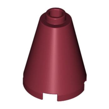 LEGO 4162208 CONE 2X2X2 - NEW DARK RED