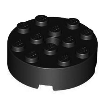 LEGO 4558957 BRIQUE RONDE  4X4  - NOIR