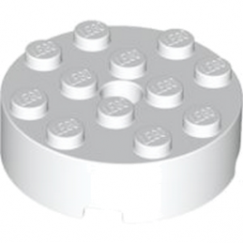 LEGO 4558956 BRIQUE RONDE 4X4 - BLANC