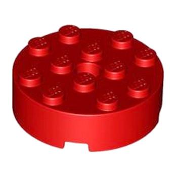 LEGO 4610843 BRIQUE RONDE 4X4 - ROUGE