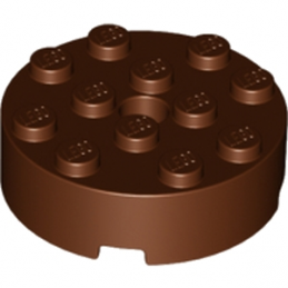 LEGO 6034334 BRIQUE RONDE 4X4 ROUND - REDDISH BROWN